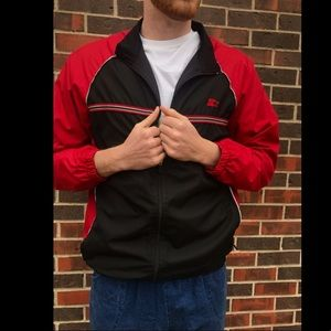 Starter athletic jacket/ windbreaker full zip.